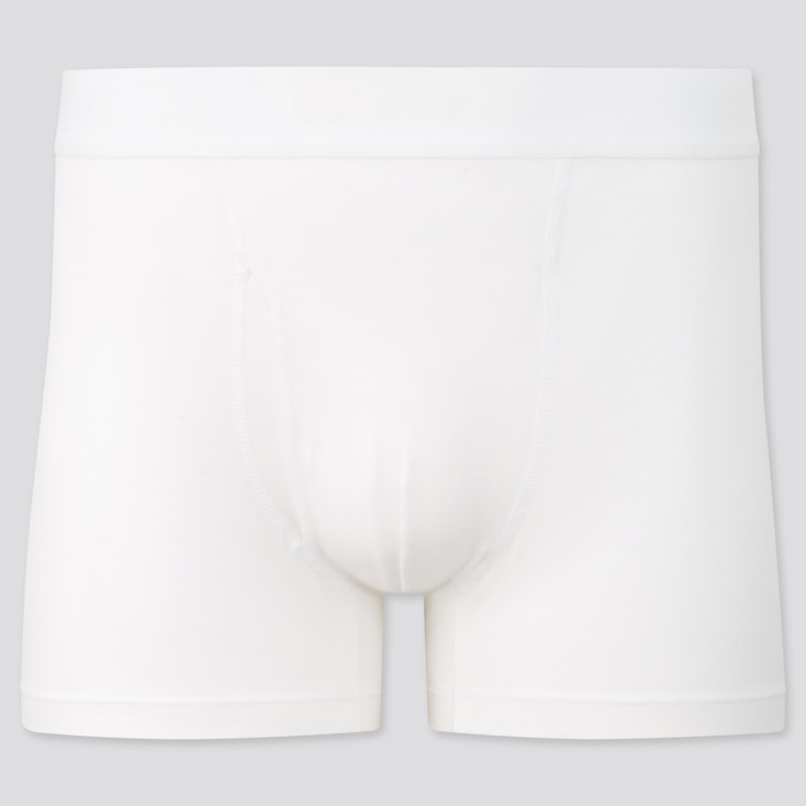 Men Supima© Cotton Boxer Briefs, White, Large
