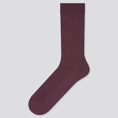 Men Color Socks, Purple, Medium