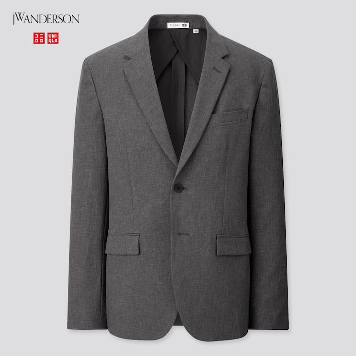 Men Tailored Jacket (Jw Anderson), Gray, Large