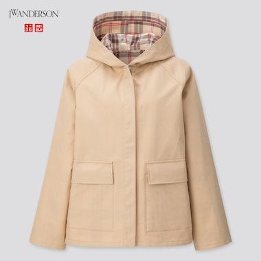 Women Cotton Reversible Parka (Jw Anderson), Beige, Medium