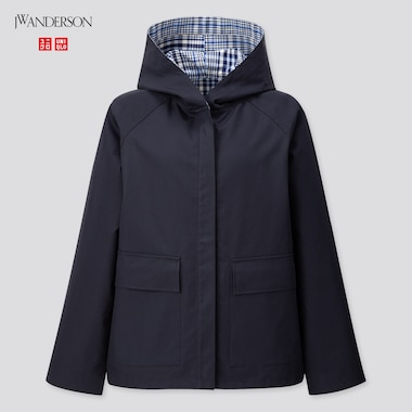 Women Cotton Reversible Parka (Jw Anderson), Navy, Medium