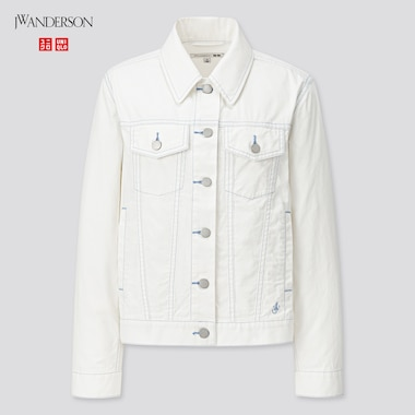 Women Trucker Jacket (Jw Anderson), Off White, Medium