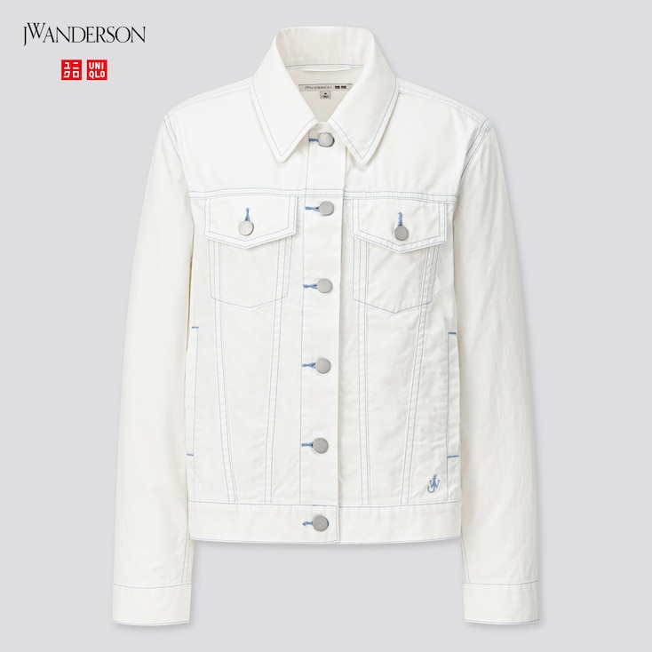 Women Trucker Jacket (Jw Anderson), Off White, Large