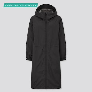 Women Light Blocktech Coat, Black, Medium