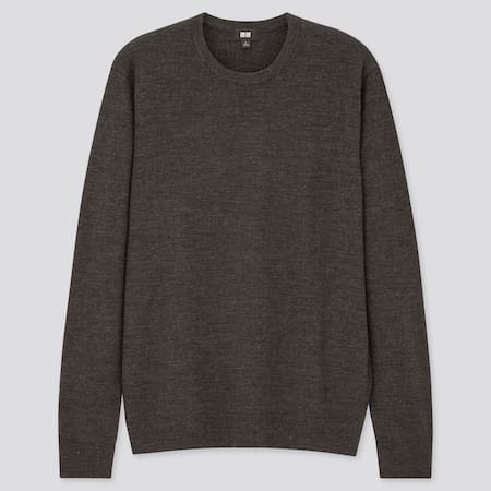 Pull 100% Mérinos Extra Fin Col Rond Homme