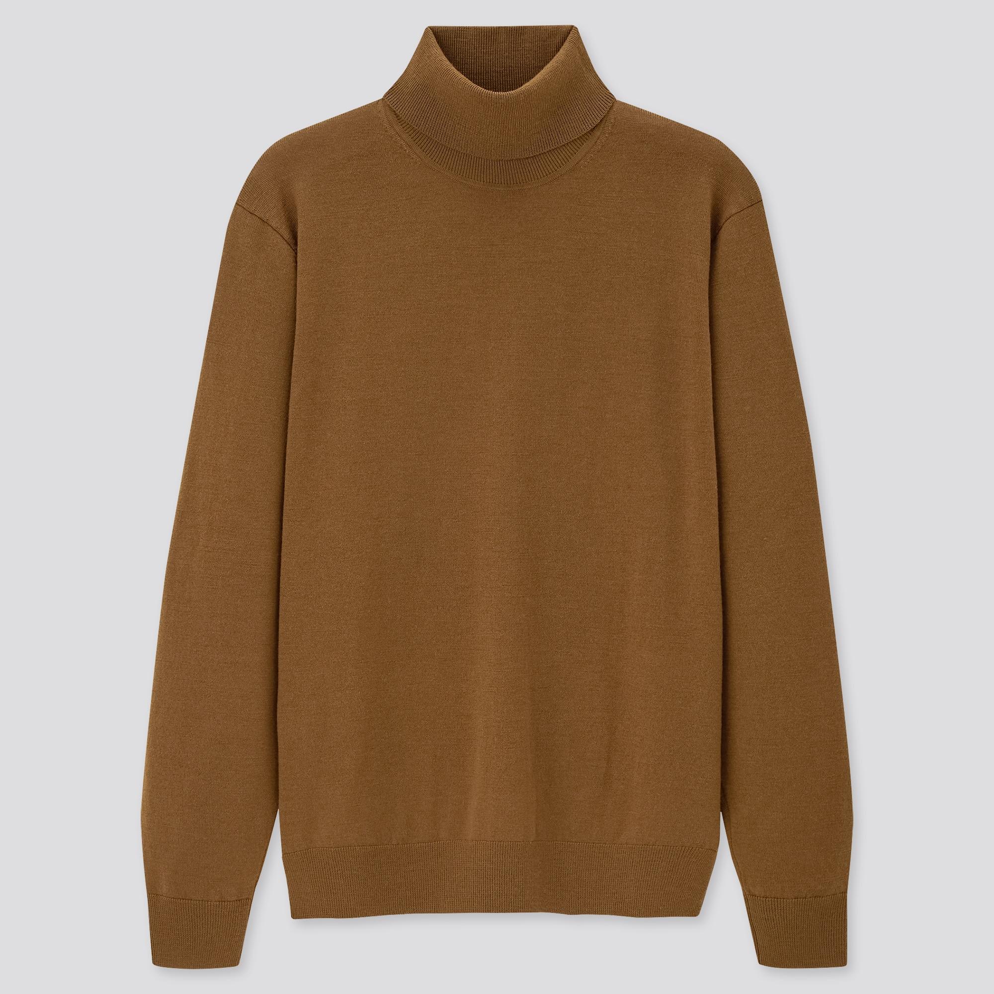 men extra fine merino turtleneck long-sleeve sweater