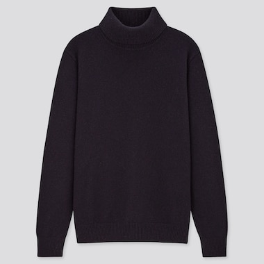 Men Premium Lambswool Turtleneck Jumper
