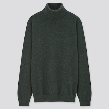 Men 100% Cashmere Turtleneck Jumper