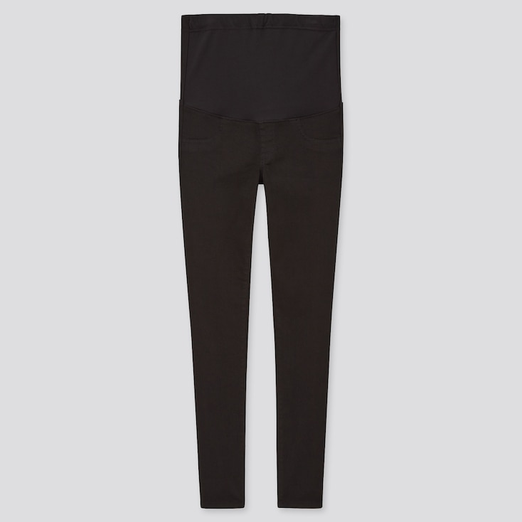 Women Maternity Ultra Stretch Jeans, Black, Large
