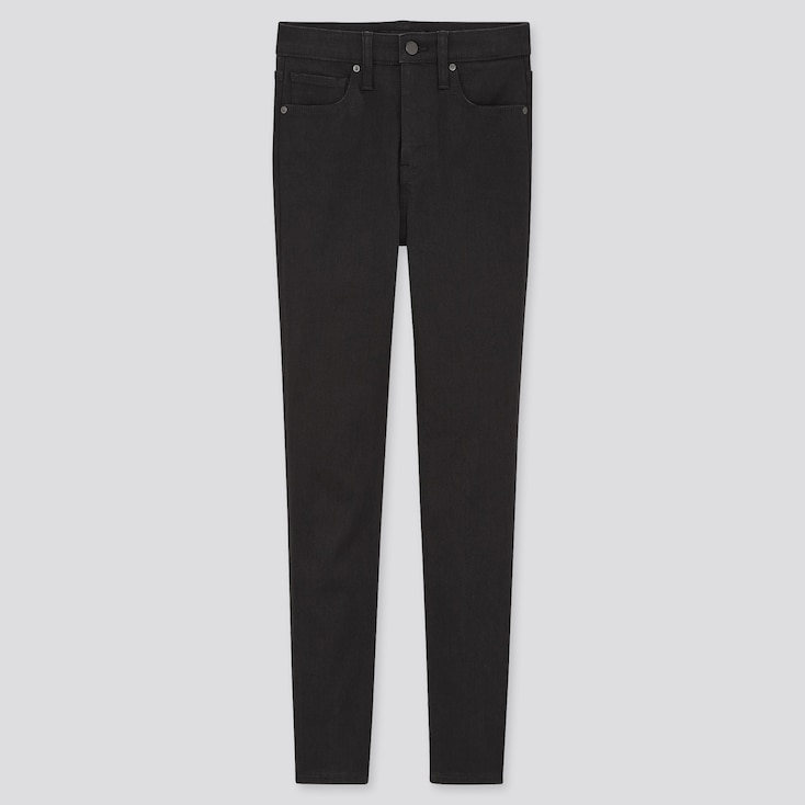 Women High-Rise Skinny Ankle Jeans (Sculpting), Black, Large