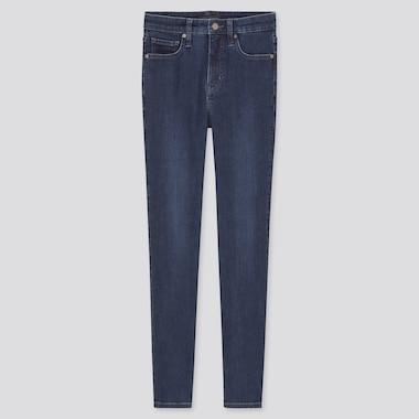 Women High-Rise Skinny Ankle Jeans (Sculpting), Blue, Medium