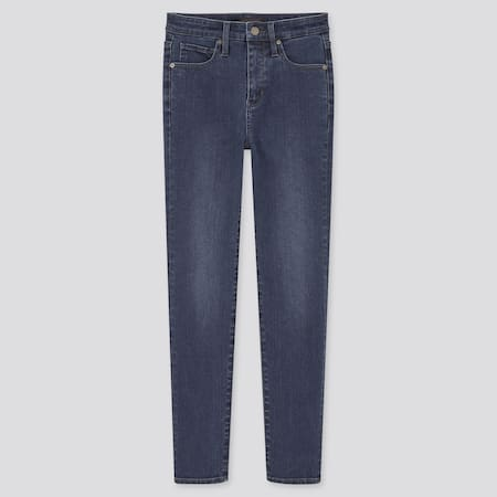 Damen Ultra Stretch Jeans in 7/8 Länge mit Hohem Bund