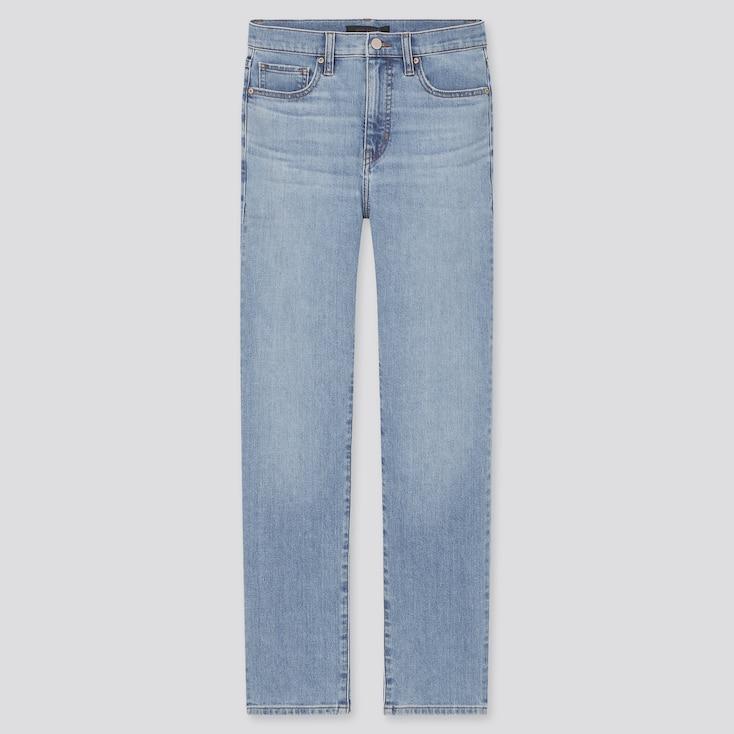 Women Slim Straight High-Rise Jeans, Blue, Large