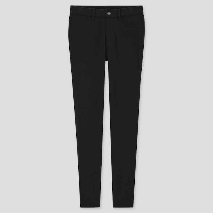 Women Ultra Stretch Leggings Pants, Black, Large