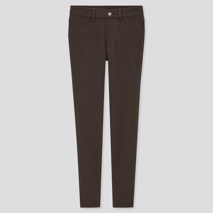 Women Ultra Stretch Leggings Pants, Dark Brown, Large