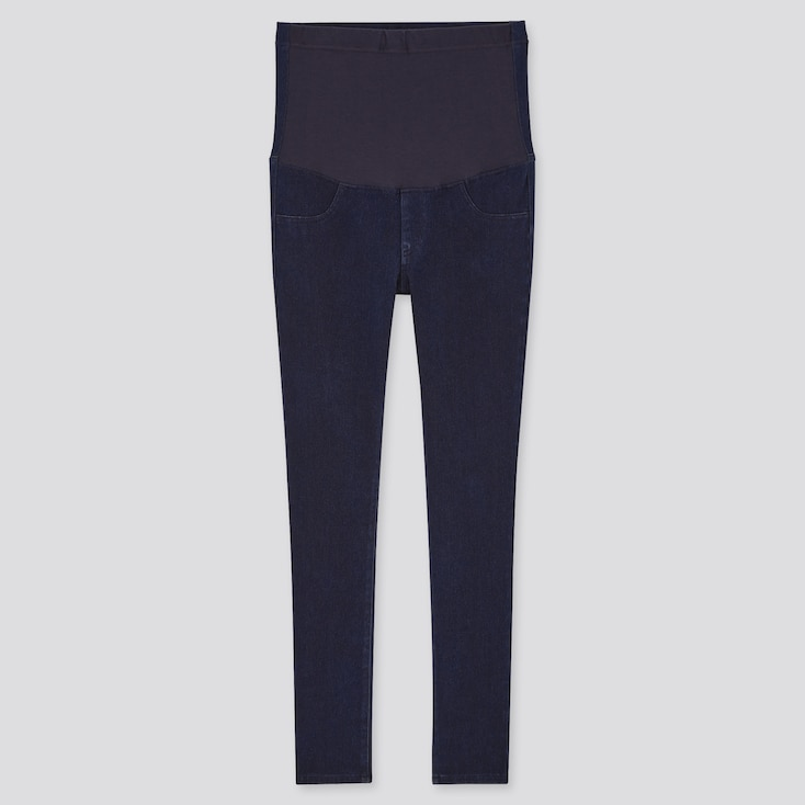 Women Maternity Ultra Stretch Leggings Pants, Blue, Large