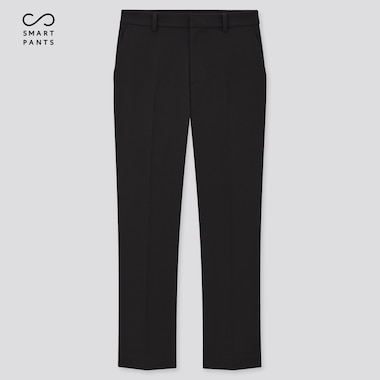 Women Smart 2-Way Stretch Solid Ankle-Length Pants, Black, Medium