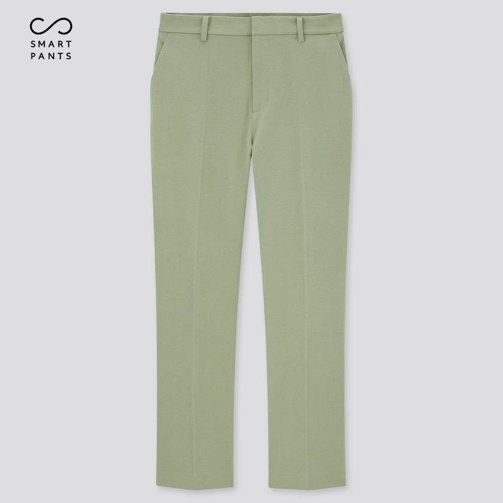 Women Smart 2-Way Stretch Solid Ankle-Length Pants, Green, Large