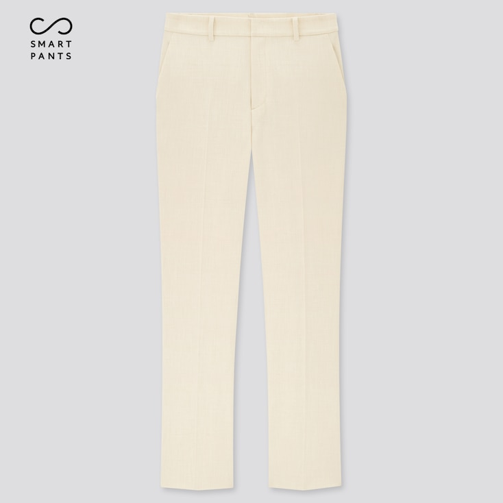 Women Smart 2-Way Stretch Solid Ankle-Length Pants (Tall) (Online Exclusive), Off White, Large