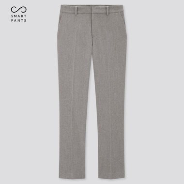 Women Smart 2-Way Stretch Solid Ankle-Length Pants (Tall) (Online Exclusive), Gray, Medium