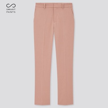 Women Smart 2-Way Stretch Solid Ankle-Length Pants (Tall) (Online Exclusive), Pink, Medium