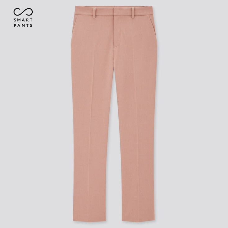 Women Smart 2-Way Stretch Solid Ankle-Length Pants (Tall) (Online Exclusive), Pink, Large