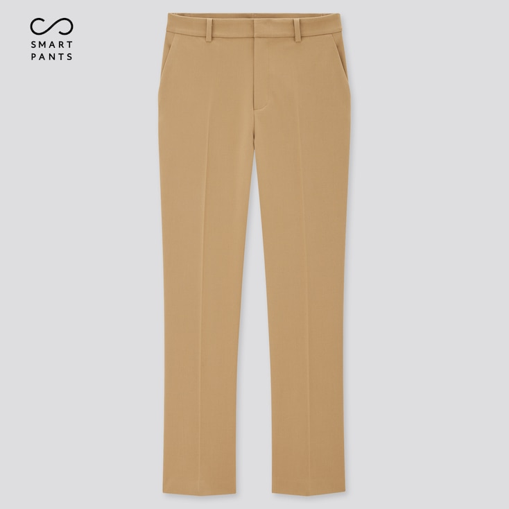 Women Smart 2-Way Stretch Solid Ankle-Length Pants (Tall) (Online Exclusive), Beige, Large