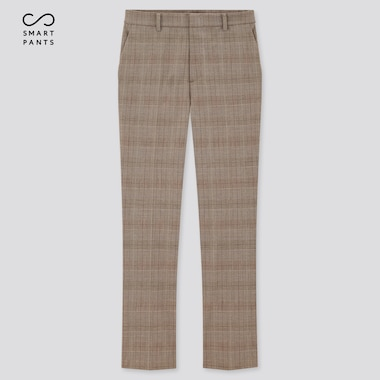 Women Smart 2-Way Stretch Glen Plaid Ankle-Length Pants (Tall) (Online Exclusive)ÿ, Brown, Medium