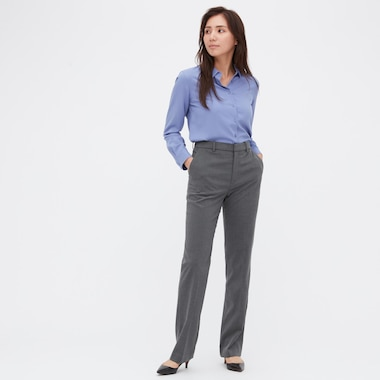 Women Stretch Pants, Gray, Medium
