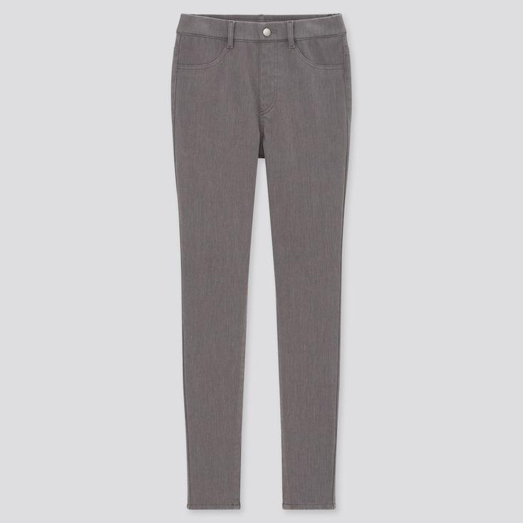 Women Heattech Ultra Stretch Leggings Pants, Gray, Large