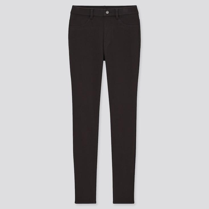 Women Heattech Ultra Stretch Leggings Pants, Black, Large