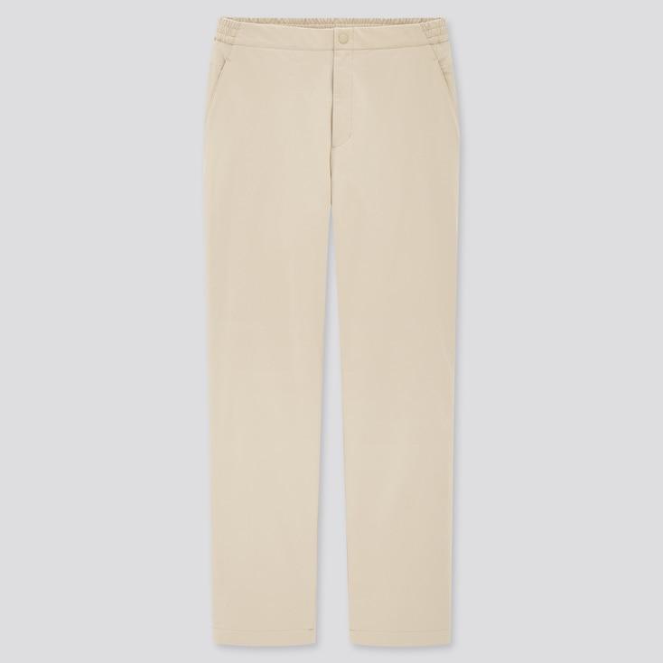 Women Heattech Warm-Lined Pants, Natural, Large