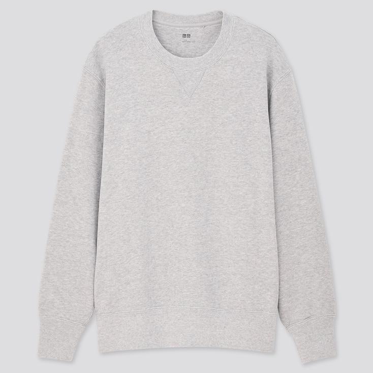 Long-Sleeve Sweatshirt,                                                         Gray, Large