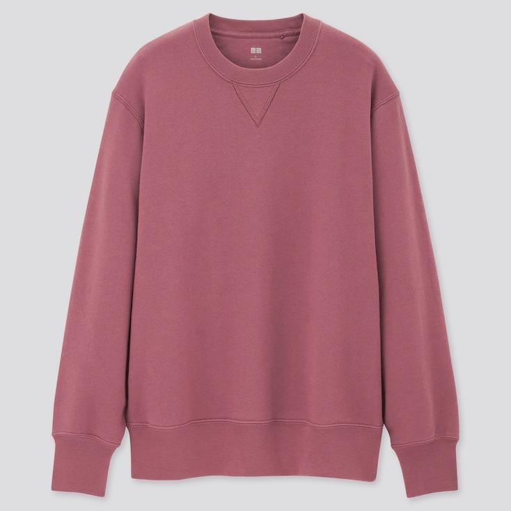 Men Long-Sleeve Sweatshirt, Pink, Large