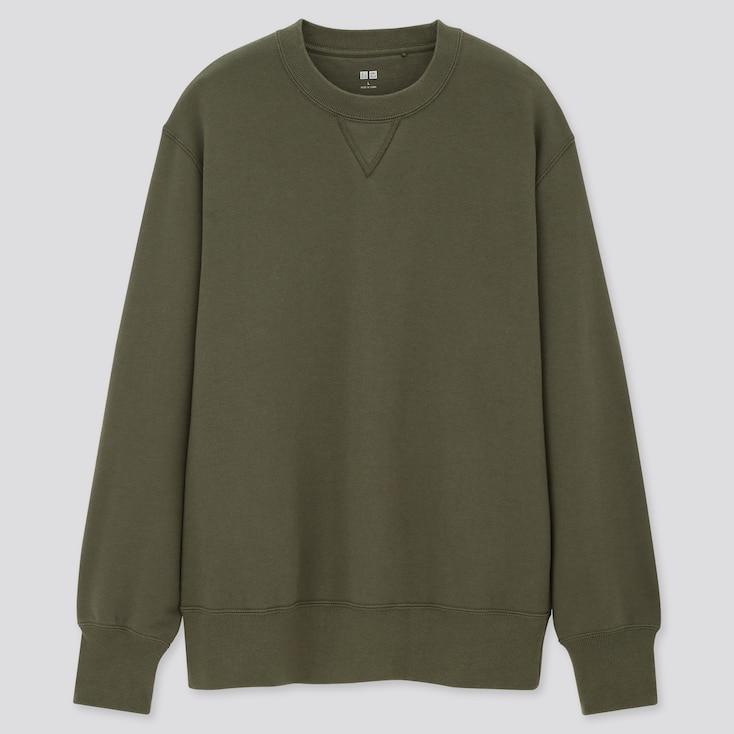 Long-Sleeve Sweatshirt,                                                         Olive, Large