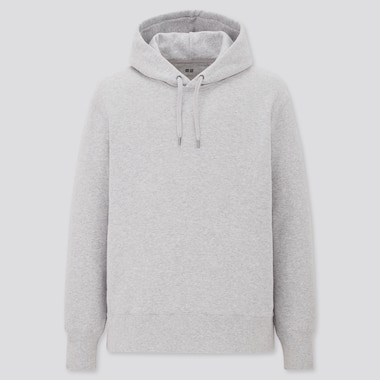 Long-Sleeve Hooded Sweatshirt, Gray, Medium