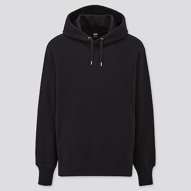 Long-Sleeve Hooded Sweatshirt, Black, Medium