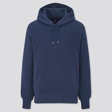 Long-Sleeve Hooded Sweatshirt, Blue, Medium