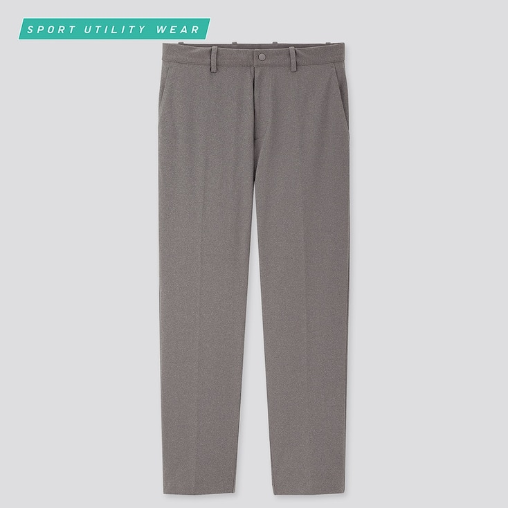 Men Dry-Ex Ultra Stretch Ankle Pants, Gray, Large
