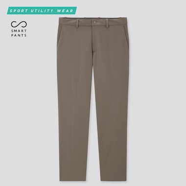 Men Dry-Ex Ultra Stretch Ankle Pants, Khaki, Medium