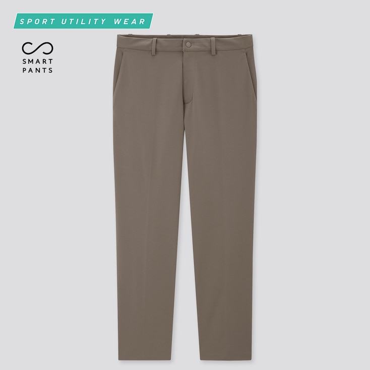 Men Dry-Ex Ultra Stretch Ankle Pants, Khaki, Large