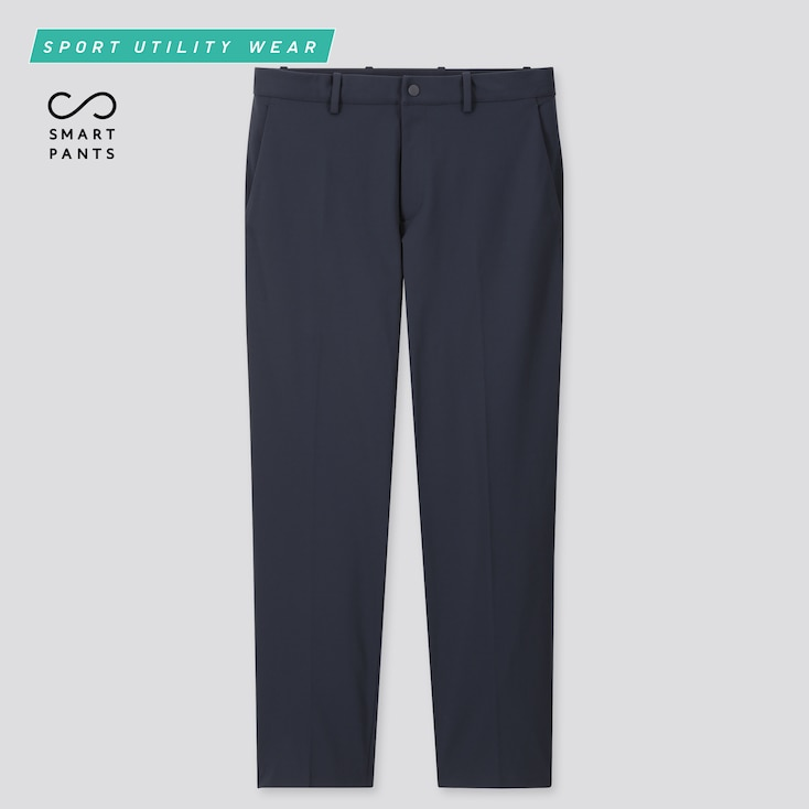 Men Dry-Ex Ultra Stretch Ankle Pants, Navy, Large