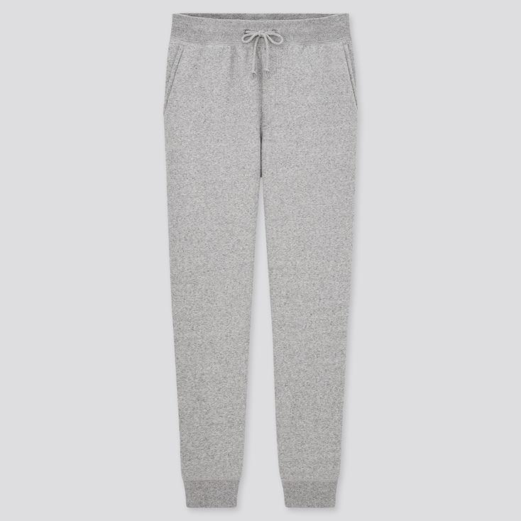 Men Pile-Lined Sweatpants, Gray, Large
