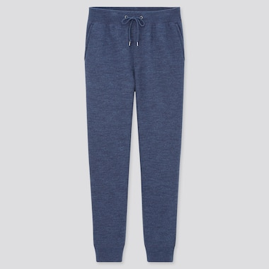 Men Pile-Lined Sweatpants, Blue, Medium