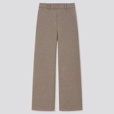 Damen Weite Hose mit hohem Bund in Wolloptik (Straight Fit)