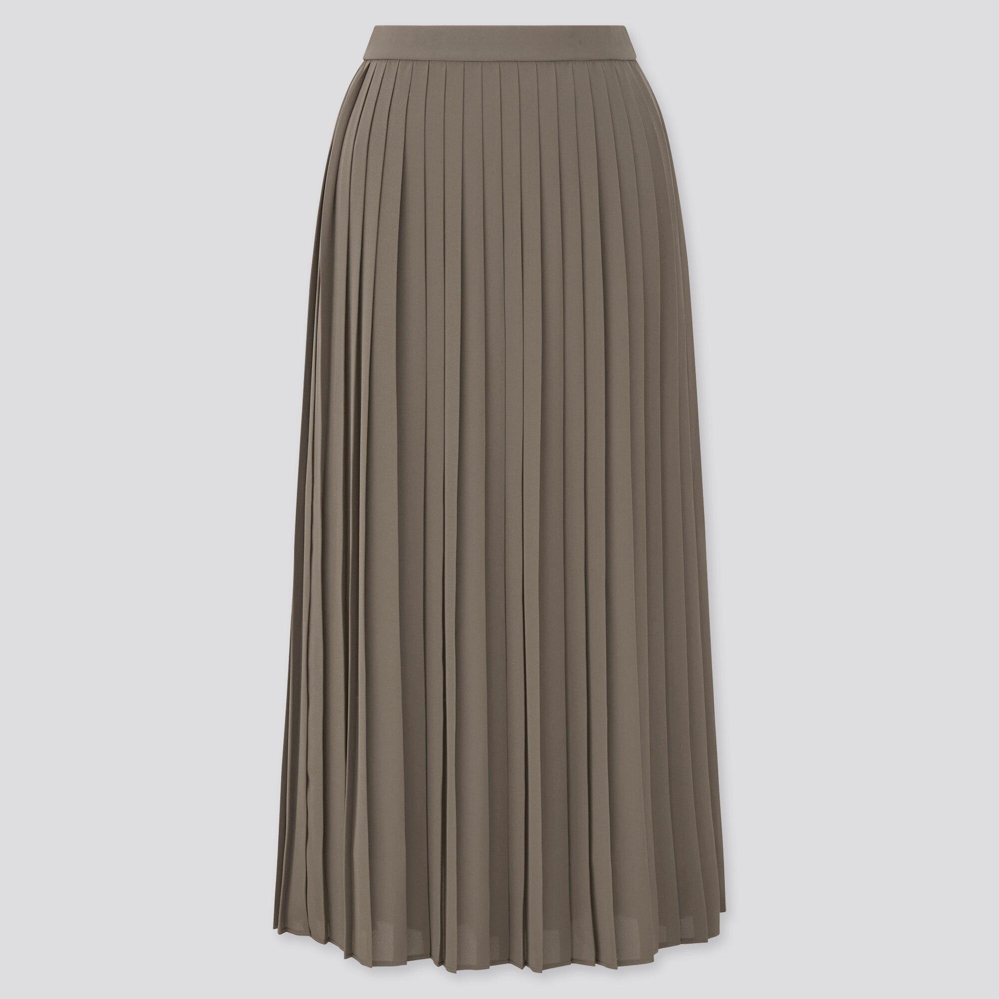 Women Chiffon Pleated Long Skirt Uniqlo Us