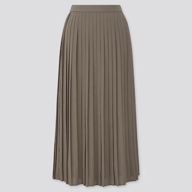 Women Chiffon Pleated Long Skirt