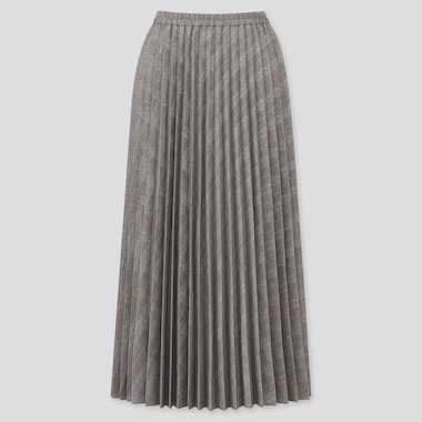 Women Accordion Pleated Long Skirt