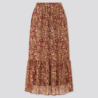 Women Joy Of Print Chiffon Tiered Long Skirt