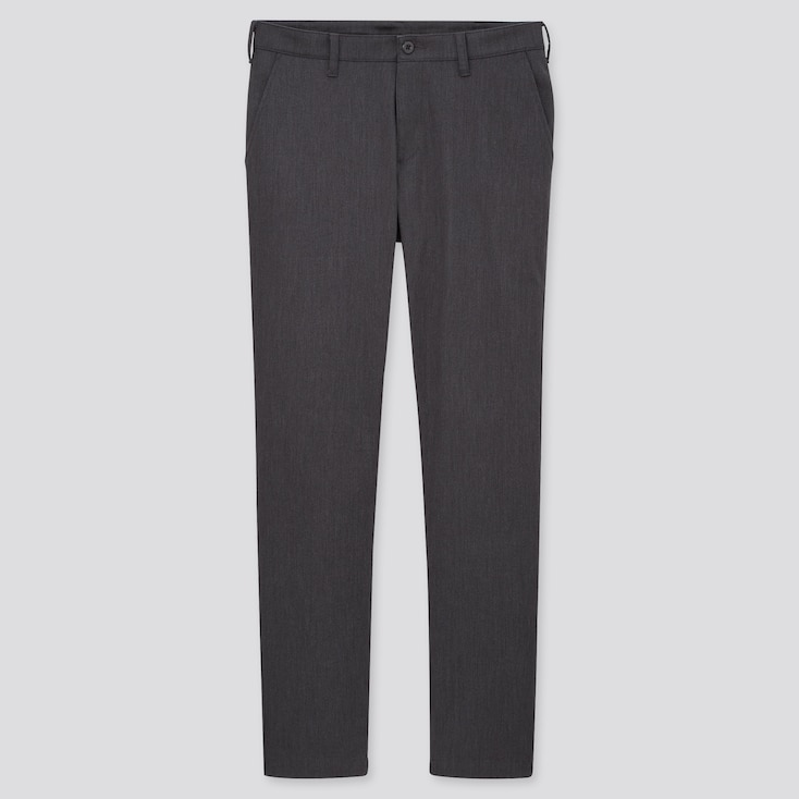 Men Windproof Slim-Fit Chino Pants, Dark Gray, Large